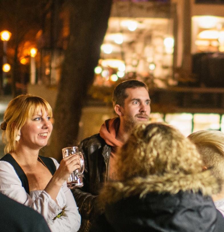 Funkenfeuer. Eine winterliche Führung mit Glühbier in Tübingen