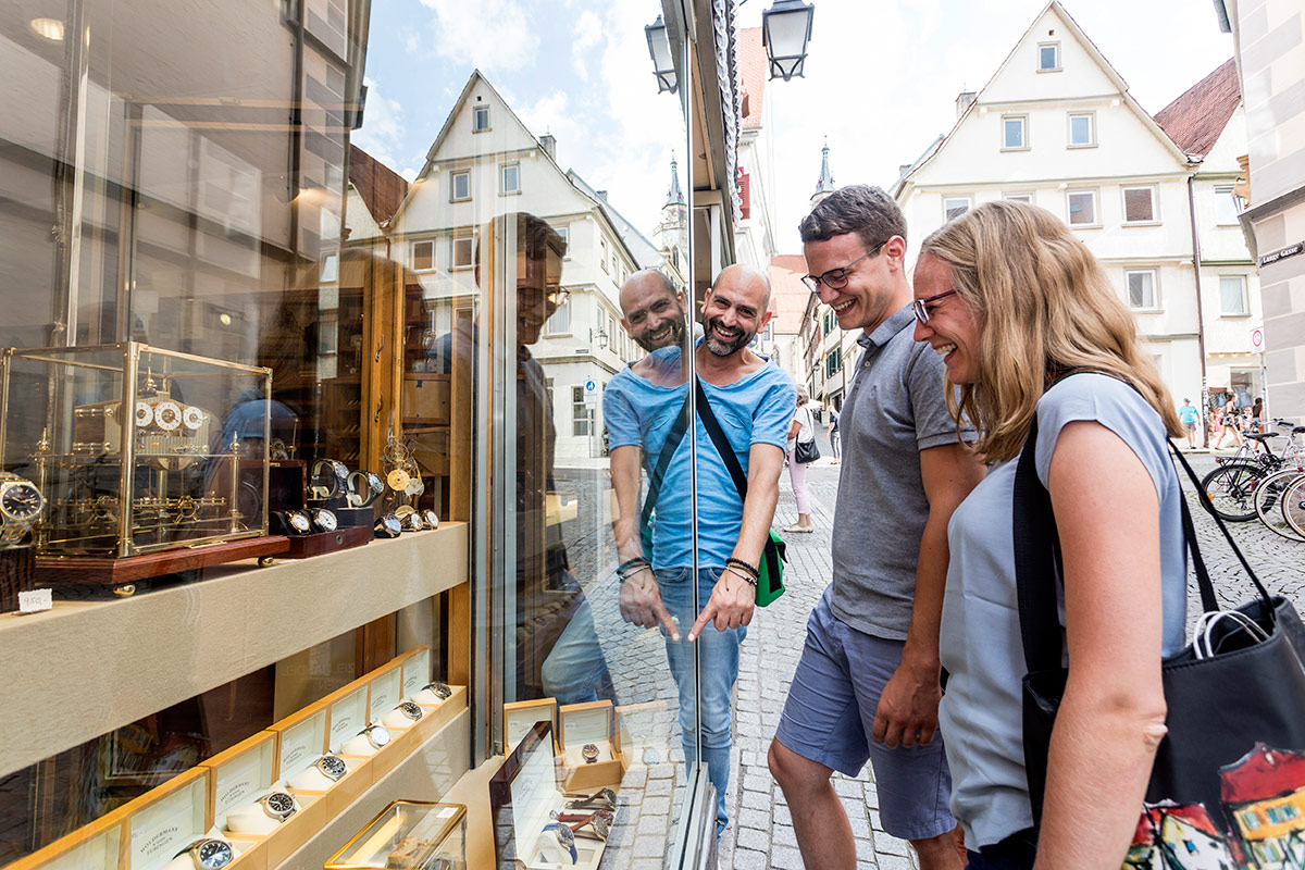 Shoppingrundgang durch die Tübinger Altstadt
