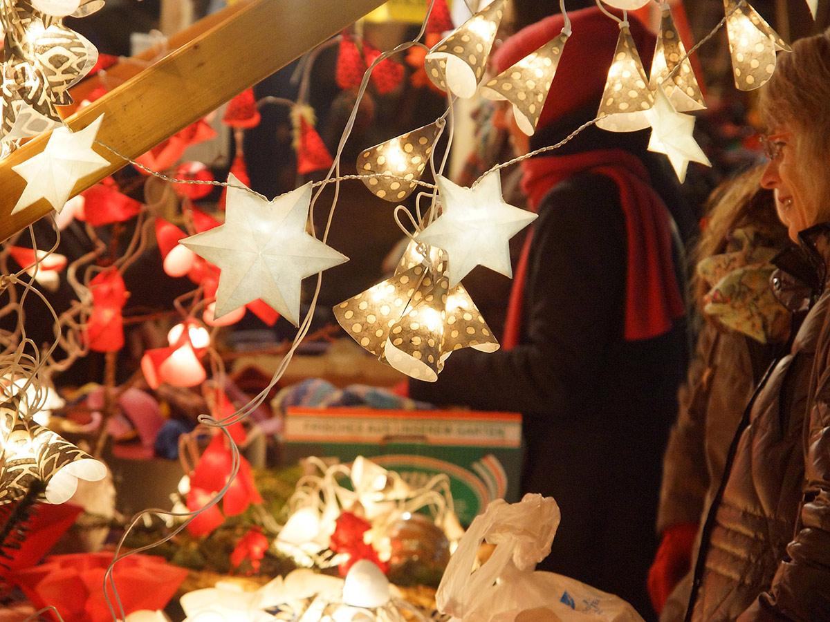 Auf dem Tübinger Weihnachtsmarkt
