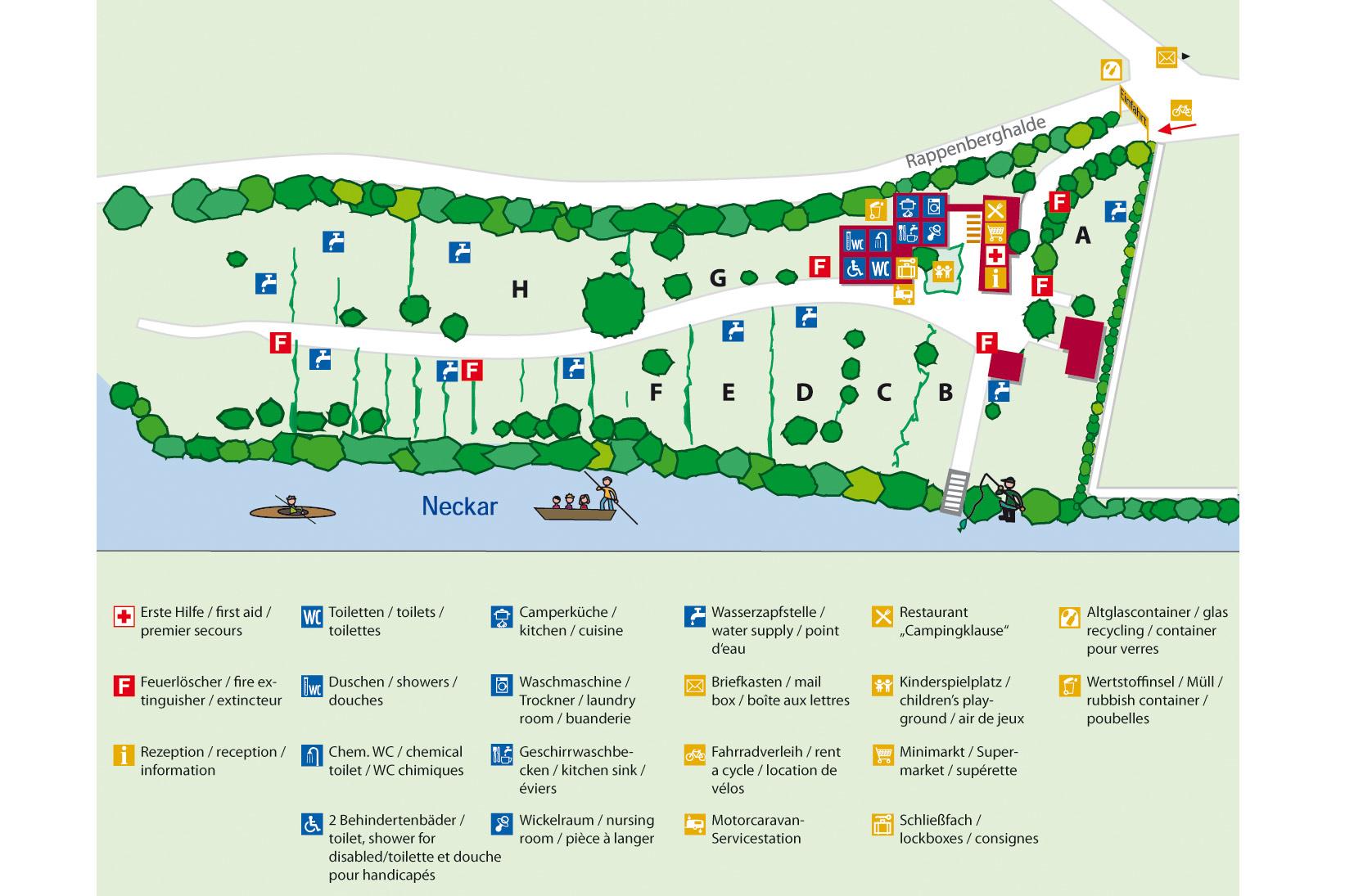 Neckarcamping Plan