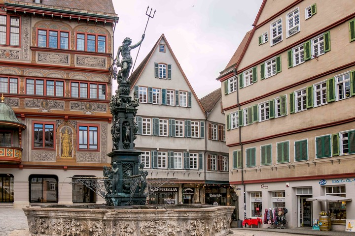 Marktplatzbrunnen in Tübingen