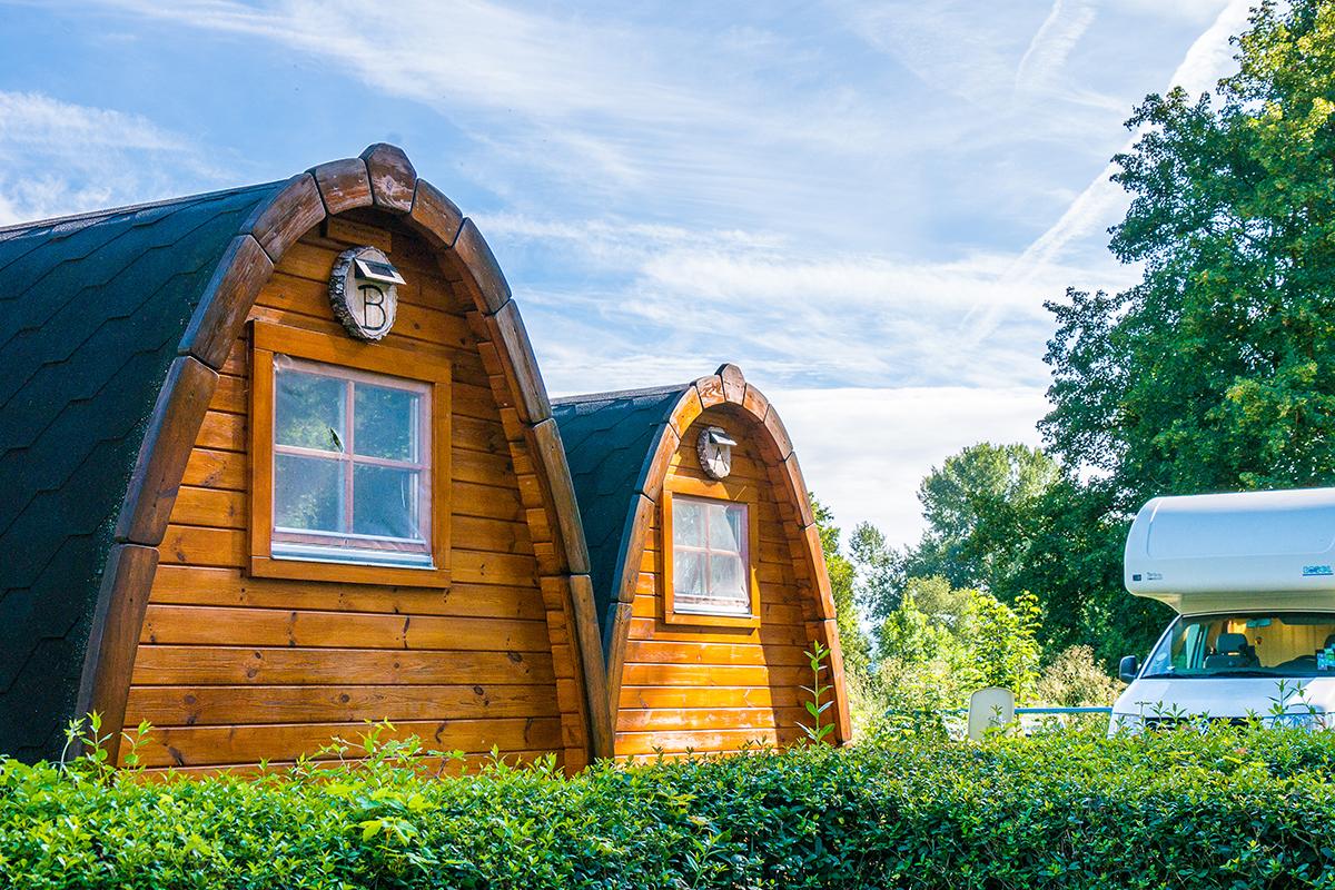 Gemütliche Pods auf dem Neckarcamping Tübingen
