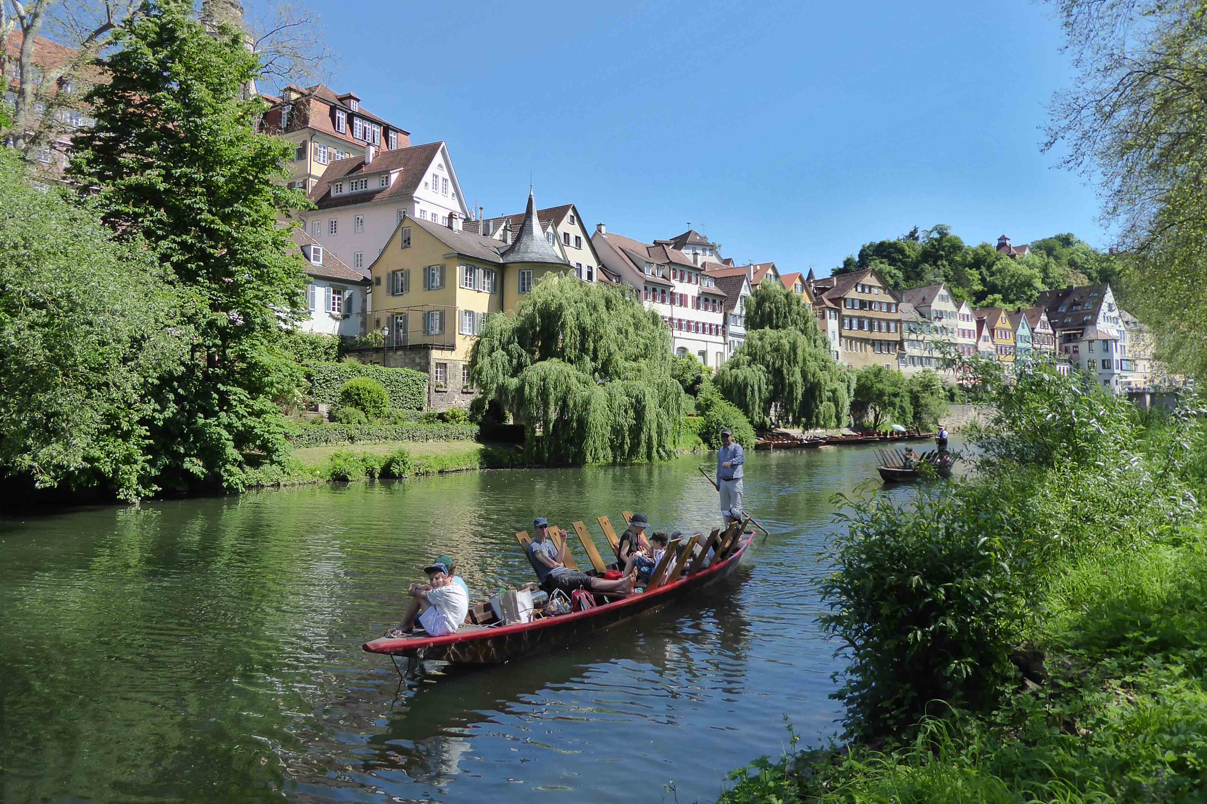 Stocherkahnfahren in Tübingen